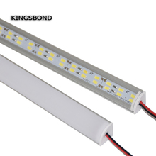 5 шт. 50 см 12 В 12 В двойной светодиодный светильник 5630 с крышкой из поликарбоната 72 светодиодный светильник жесткая полоса угловой СВЕТОДИОДНЫЙ алюминиевый профиль
