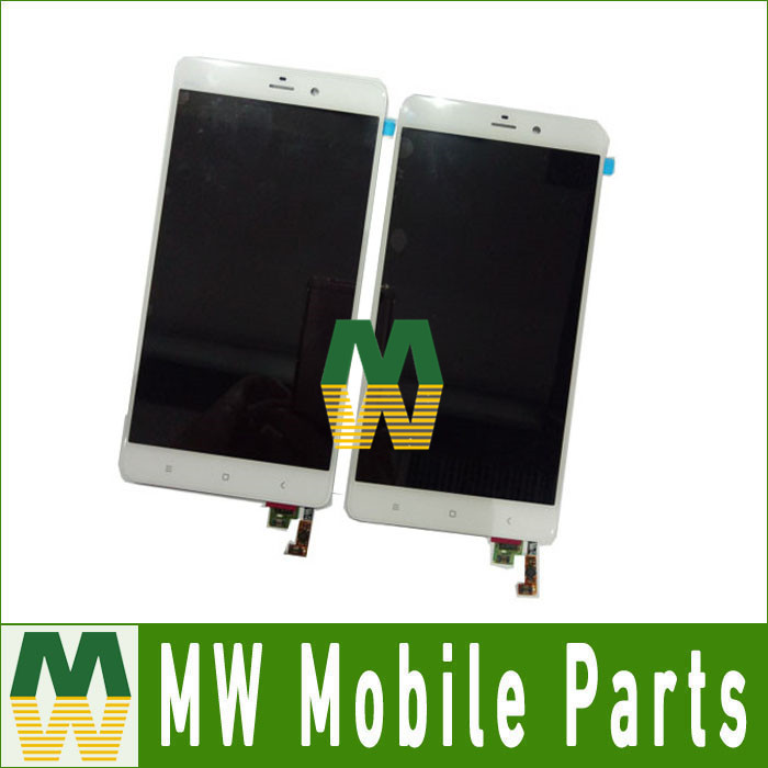 ФОТО 1pc/lot High Quality For Xiaomi note LCD Screen And Touch Screen Assembly White Color