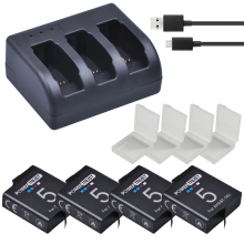 4Pcs 1600mAh AHDBT-501 AHDBT501 Battery for Gopro Hero 5/6 battery