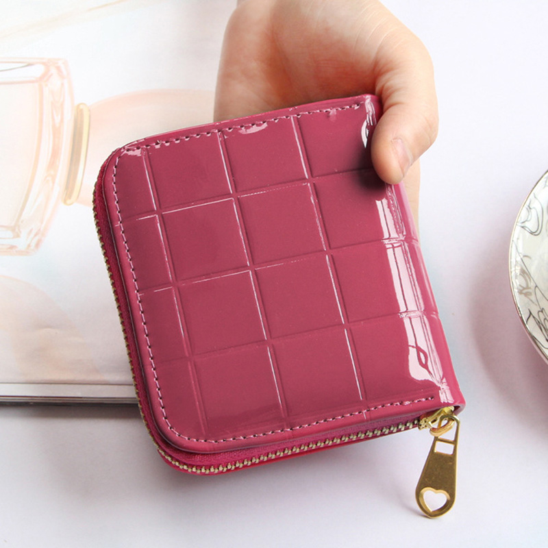 Plaid Short Ladies Wallet For Women PU Leather Wallets Female Small Wallets Zipper Coin Purse Holders Clutch Girl Money Bag