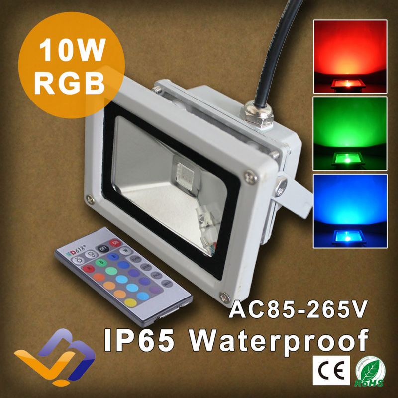 Popular Colored Outdoor Flood Lights-Buy Cheap Colored Outdoor ...:10W IR remote control LED Flood light 85V-265V RGB colorful Waterproof  Spotlight Projection lamp,Lighting