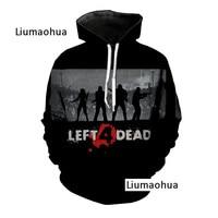 Liumaohua 2019 winter new men women fashion sweatshirt 3d printing video game hoodie long sleeve hip hop hoodies