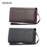 Lichee Pattern Card Slots Holder Pouch Case For Vernee Thor E Thor 5Inch