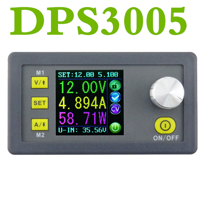 DPS3005 Constant Voltage current voltmeter Ammeter Step-down Programmable control Voltage converter Power Supply module buck12% 5pcs zxy6005s upgraded version zxy6005 constant voltage current power supply module with heat sink voltmeter ammeter 60v 5a