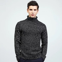 Men S Turtle Neck Cable Knitted Jumpers High Neck Pullover Sweater