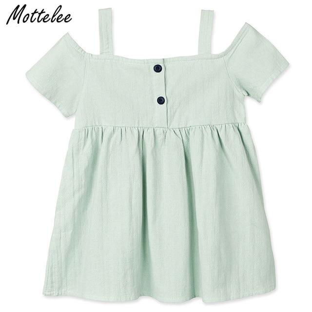 2ec7ea5ec441 Mottelee Girls Dress Summer Children Cotton Clothes Kids Strapless ...