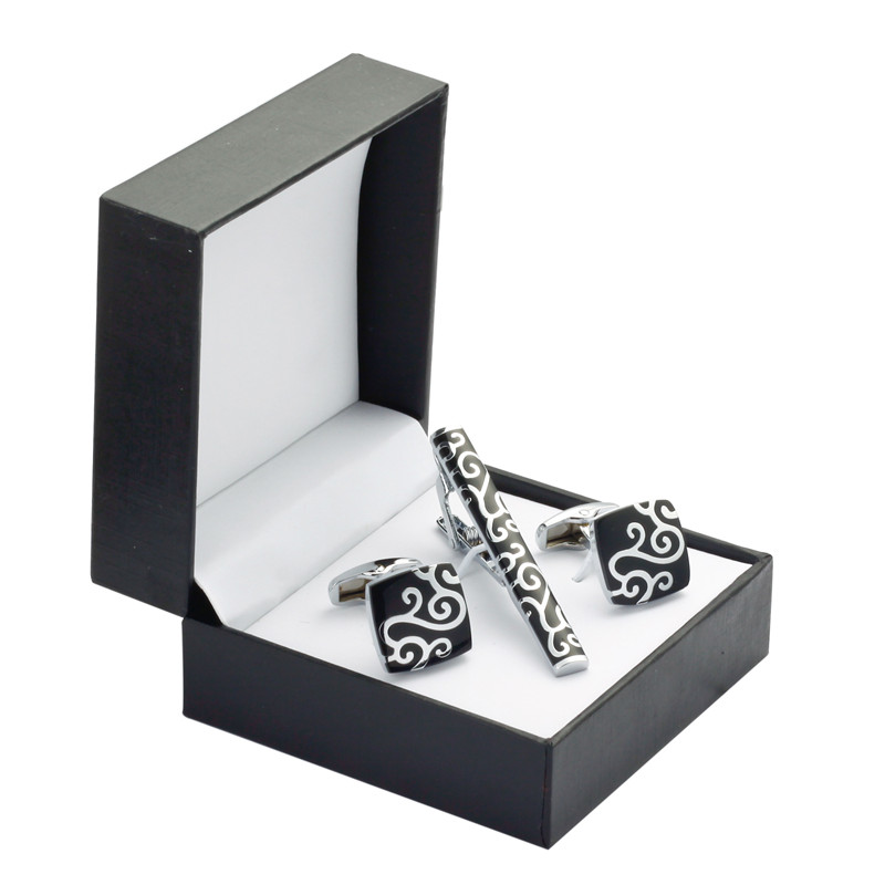 HIGH QUALITY Cufflinks /& Tie Clip in gift box