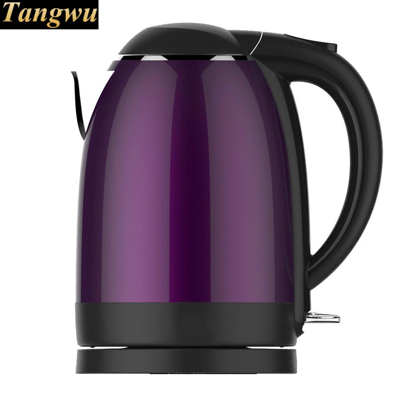 Electric kettle boiling water pot double insulation 1.7l large capacity 1 8l electric kettle heating hot water 1500w electric boiling pot food grade material