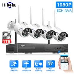 Wireless CCTV System 1080P 1TB HDD 2MP 8CH NVR IP IR-CUT outdoor CCTV Camera IP Security System video Surveillance Kit hiseeu