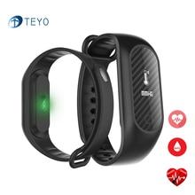 Teyo умный Браслет B15S Приборы для измерения артериального давления крови кислородом сердечной Мониторы Водонепроницаемый Pulsera inteligente smartband для iOS и Android
