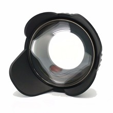 MEIKON 67mm Fisheye Wide Angle Lens Dome Port Shade Cover 60m/200ft Waterproof 67mm Adapter for Camera Diving Housing (Round)