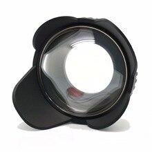 MEIKON lente angular ojo de pez ancho 67mm cubierta de sombra de Puerto Domo 60m/200 pies impermeable 67mm adaptador para cámara carcasa de buceo (redonda)