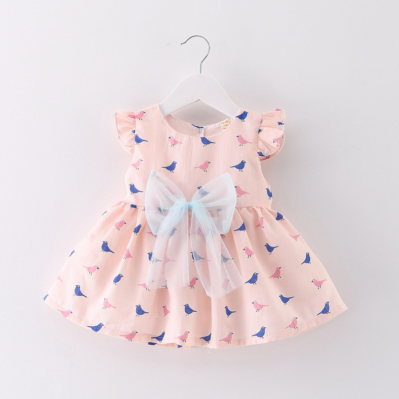 Baby Girl Dress 0 2Y Newborn Baby Summer Embroidery Flower Strawberry Cotton Dress Infant Baby