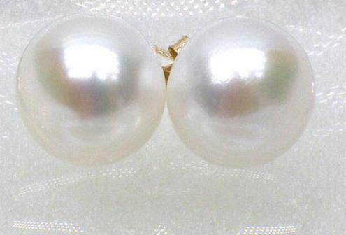 Perfect Pearl Earrings New Arriver 11-12mm Freshwater Pearl Earring Silver Stud Jewelry