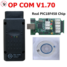 New OP COM opel V1.70 OPCOM with Best Green PCB Real PIC18F458 chip OBD2 CAN BUS for Opel obd2 Professional diagnostic Tool