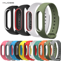 Mijobs Cinturino Xiao Mi Band 2 Bracelet Strap Double Color Replacement watchband For Original Miband 2 Mi Band 2 strap