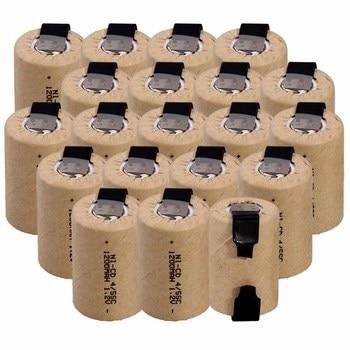 El precio más bajo 20 piezas 4/5SC batería 1,2 v baterías recargables 1200mAh nicd batería para herramientas eléctricas akkumulator