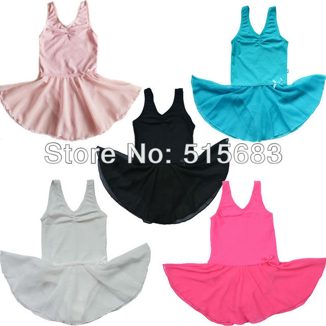 45a09260df7c Retail 1 Pcs 5Color New Girls' Kids Free Shipping Gymnastics Pink Leotard  Ballet Tutu Skate Dance Party Skirt Fairy Dress 2-14Y