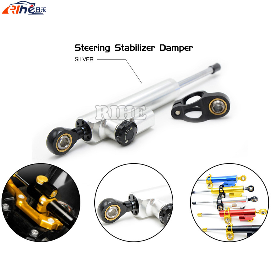 Universal Motorcycle CNC Stabilizer Linear Reversed Safety Control Steering Damper For Honda CBR600RR MSX125 BMW R1200GS ADVENTU fxcnc aluminum universal cnc adjustable steering damper motorcycle stabilizer linear reversed safety control black