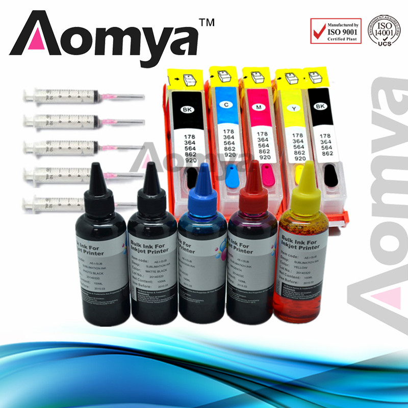Aomya 178XL Ink Refill Kit Relacement for HP 178 Ink Cartridge B010b B109c B110a B209b B210b