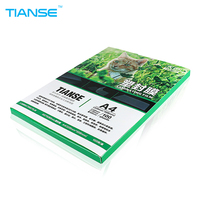 TIANSE A4 Laminating Pouches 6C Right Angel PET Plastic Film 100 Sheets Pack Luminous High Glossy