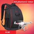 Nylon preto bolsa de ombro mochila maleta para dji phantom 1 2 3 Visão FC40 Zero Explorer Aeronaves FPV Quadcopter atualizado