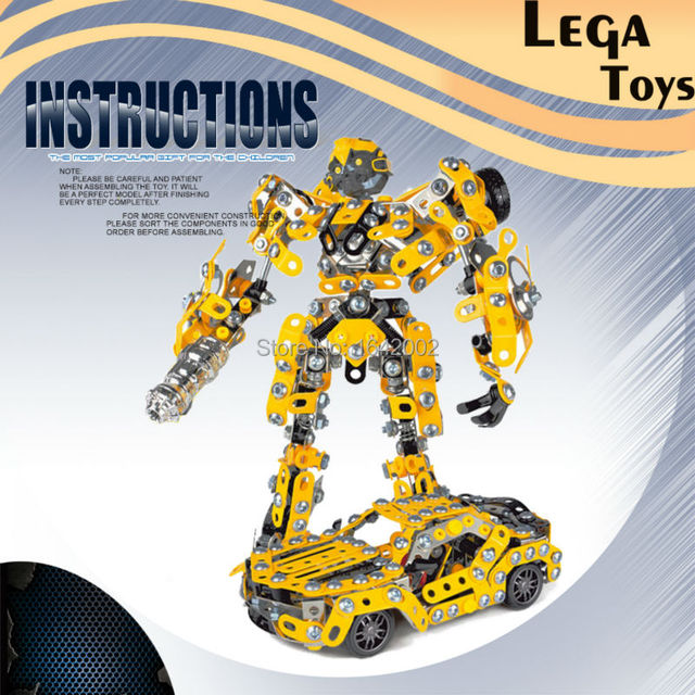 Comandante ferro Montado Deform Robot Modelo de Carro De Metal Blocos definir Presentes Liga Clássico Brinquedo Brinquedos Educativos para Crianças ou Adultos