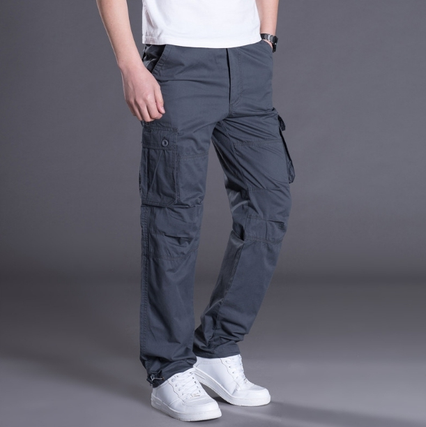 Mens Cotton Cargo Trousers Brand find