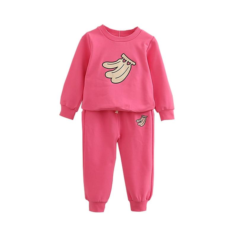 2018 spring children fruit clothes babys sets childrens kids boys outfit sports suit set girls jogging suits child track suits