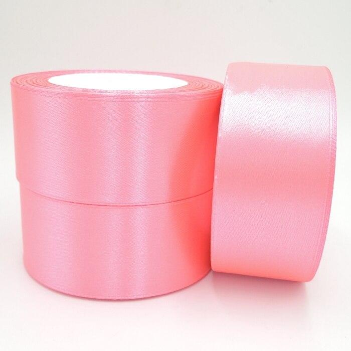 Персикового цвета 38 мм Широкий Свадьба Ремесло атласной лентой, продается за пакет 1 рулон (25 ярдов) 0005