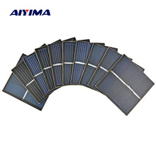 AIYIMA 10Pcs Mini Solar Panels 2V 150mA 55*55MM Solar Cells For DIY Scientific Experiment