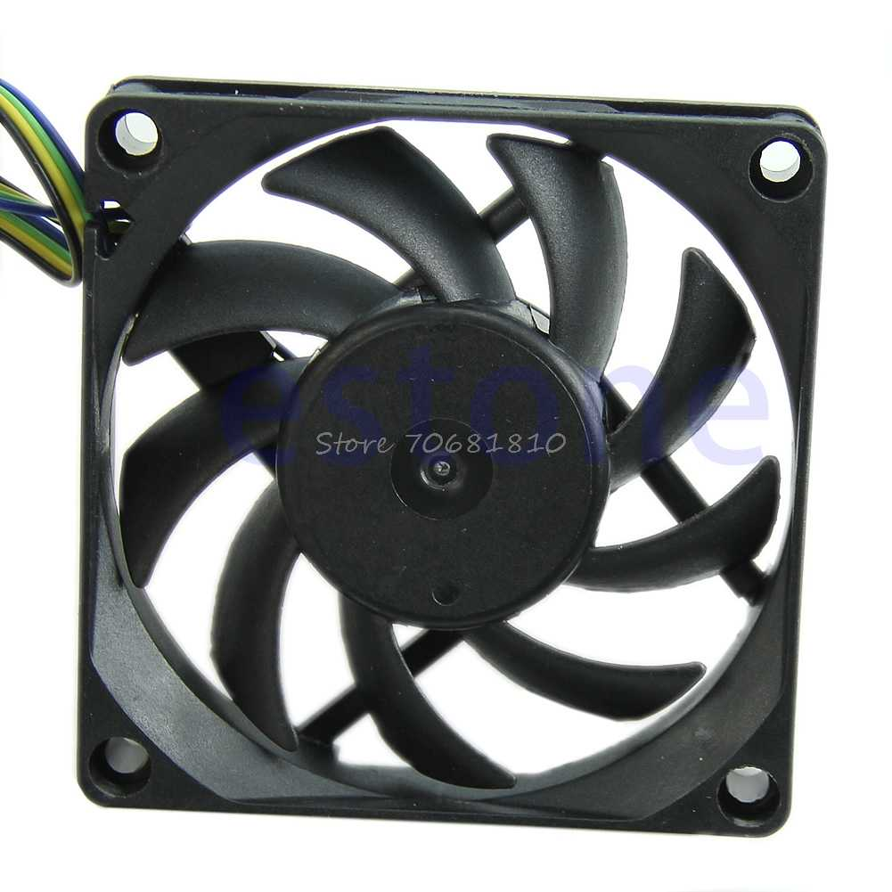 70 Mm X 15 Mm Brushless Fan DC 12V 4 Pin 9 Blade Pendingin Cooler 10166