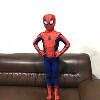 Child Muscle Spider men Costume Fantasy Halloween Costumes for Kids Boy Superhero Party Performance