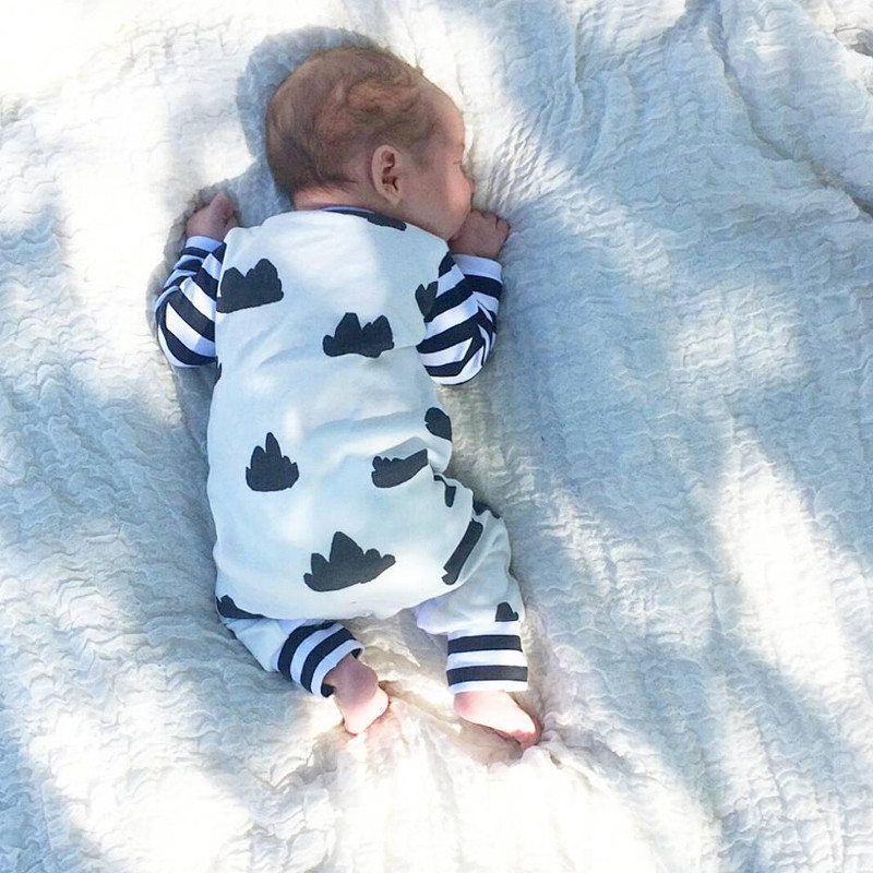 Baby Romper 2019 Autumn New Long Sleeve Baby Boy Clothes Newborn Casual Baby Girl Clothing Infant Suit For 0 18M in Rompers from Mother Kids