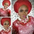 Splendid Branco Moda Africano Contas Conjunto de Jóias Chunky Cristal Mulheres Nupcial Jóias Set Red Beads Colar Frete Grátis WD673