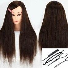 CAMMITEVER коричневая голова с 4 инструментами волосы стиль голова манекен для парихмахеров стильный манекен голова куклы для обучения для салонов