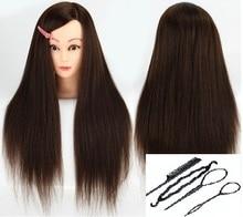 """""""CAMMITEVE"""" """"Brown Head"""" su 4 įrankiais """"Hair Style Hairdressing Mannequin"""" galvos stiliaus manekeno lėlių treniruočių galvos salonui praktika"""
