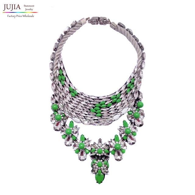 New choker bib shourouk necklace statement  fashion pendant Luxury collar crystal Necklace 2017 women jewelry wholesale
