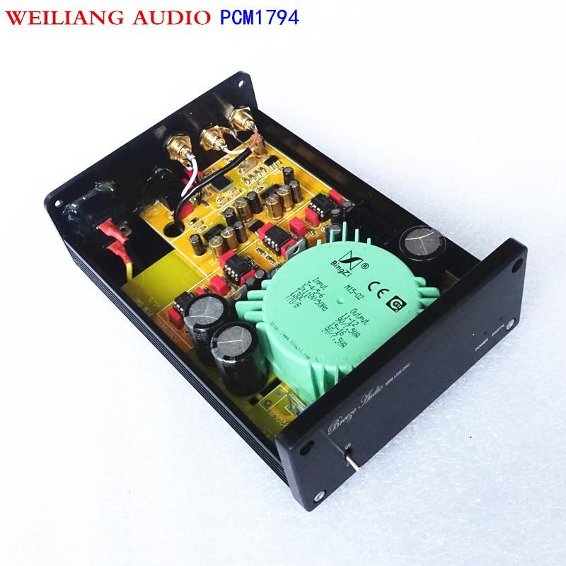 WEILIANG AUDIO & Breeze Audio PCM1794*2 decoder 192kHz 24bit Ak4118 Coaxial /optic input ,RCA output to power amplifier SU2 цены
