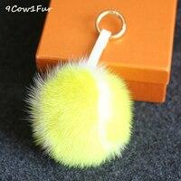 Bunny keychain Fur tennis 10 cm Bất Mink Pompoms Lông lông thú sang trọng balls Pom Pom Cho Túi Hat Cap Scarf Kèm Theo các Haps CF150