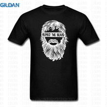 T Shirt Print MenS Short  Respect The Beard O-Neck Office Tee