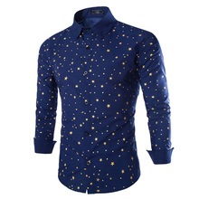 2016 New Arrival Spring &Winter Style Men Shirt Fashion Chemise Long Sleeve Slim Fit Shirt Mens Shirt M_XXL 9195