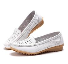 High Quality Spring Women genuine Leather Flats Casual Loafers Comfortable Soft Bottom tenis Shoes Vintage Style Women Footwear