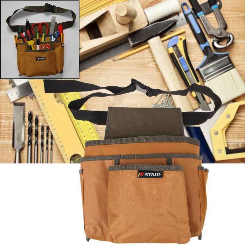 Electrician Waist Pocket Tools Belt Pouch Bag 600D Oxford Screwdriver Kit Holder Hardware Storage Outdoor