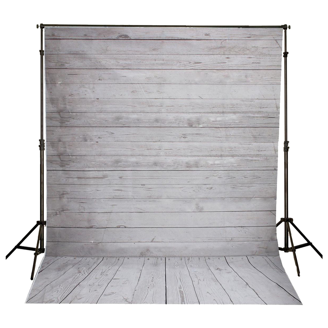 5x7FT Vinyl Photography Backdrop Photo Background, Gray+white wood floor