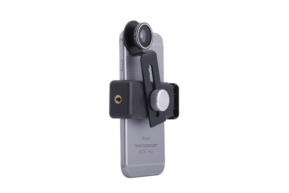 Zoom Optical Lens 4 in 1 Mobile Phone Telescope 9X Telephoto fish eye wide angle macro camera lens for iphone7 6 5 huawei lenovo 18