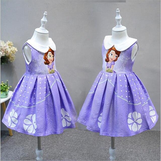 9bdd9e22e42e Ragazze Principessa Sofia Anna Elsa Partito Dei Bambini del Vestito Del  Fumetto Dei Capretti del Vestito