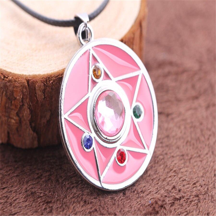 Tempo Perfect DZ628 cute Anime Cardcaptor Sakura Colorful Magic Wand STAR Pendant Necklace Chains