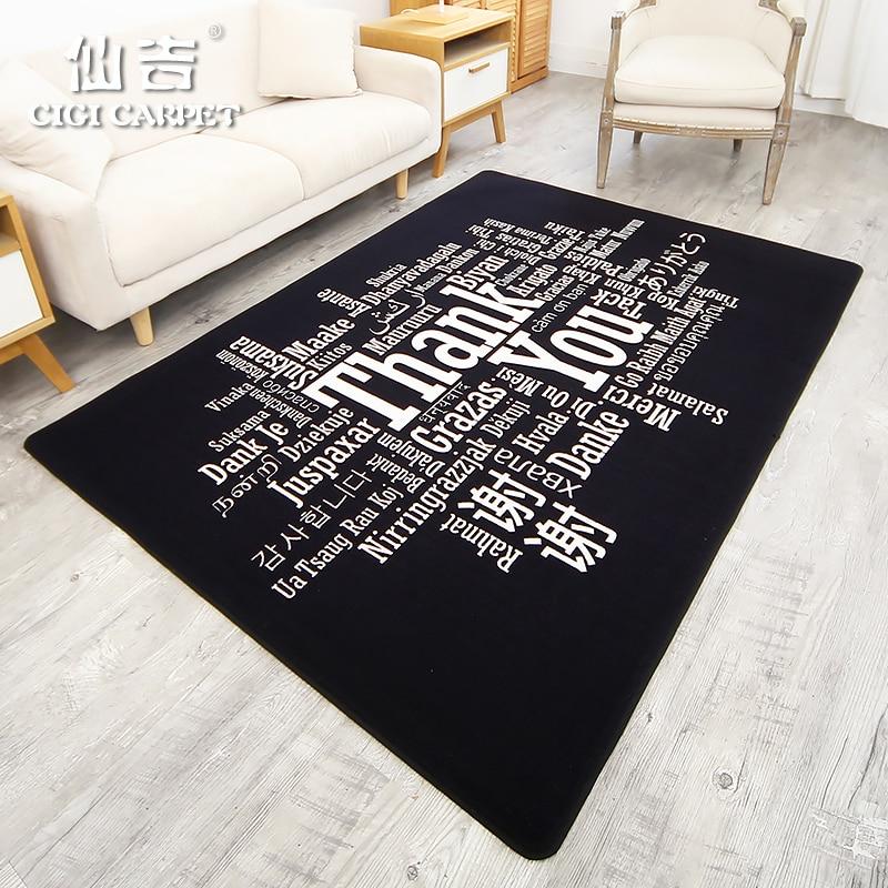 CIGI Modern Home Carpet Hallway Bedroom Floor Carpet Nylon Fabric Kitchen Hallway Anti Skid Mat Washable 6mm Thick Creative Mat