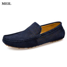 Summer Men Loafers 2017 New Casual Shoes Slip On Fashion Drivers Loafer Breathable Leather Moccasins